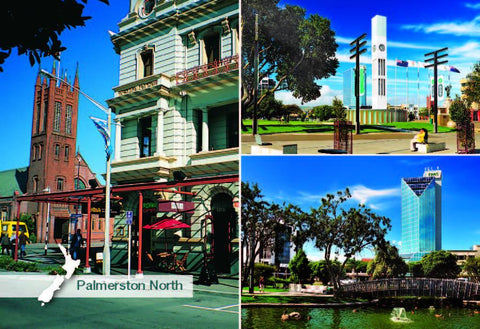 SMW1059 - Palmerston North Multi - Small Postcard
