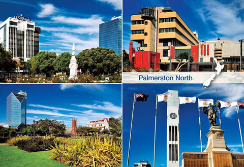 SMW1064 - Palmerston North  Multi - Small Postcard