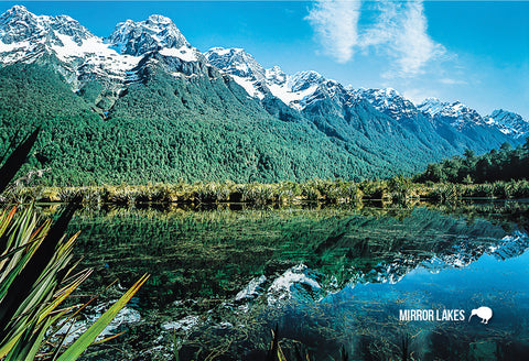 SFI39 - Mirror Lakes Eglinton Valley - Small Postcard - Postcards NZ Ltd