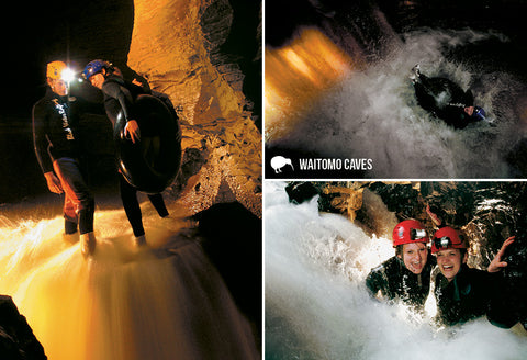 SWC973 - Black Water Rafting, Waitomo - Small Postcard - Postcards NZ Ltd