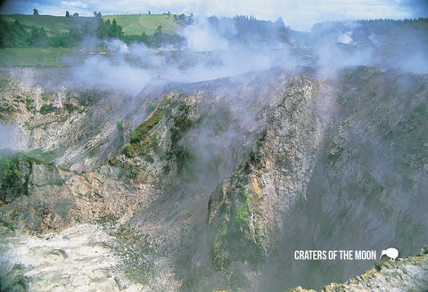 SRO213 - Crater, Mt Tarawera - Small Postcard