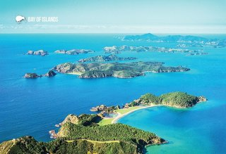 LBI024 - Bay Of Islands,  Aerial - Large Postcard - Postcards NZ Ltd