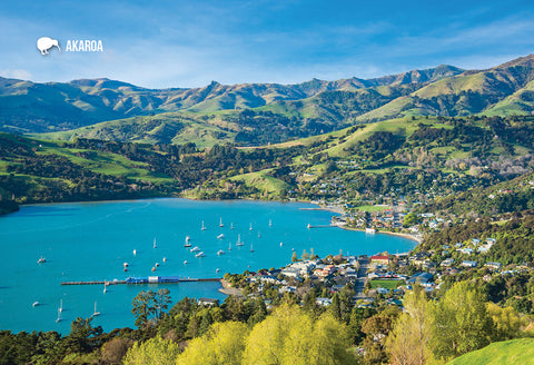 SCA268 - Akaroa - Small Postcard - Postcards NZ Ltd