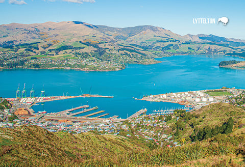 SCA283 - Lyttelton Harbour - Small Postcard