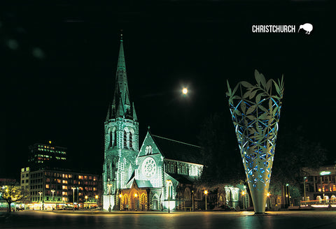 SCA315 - Christchurch Cathedral - Small Postcard - Postcards NZ Ltd