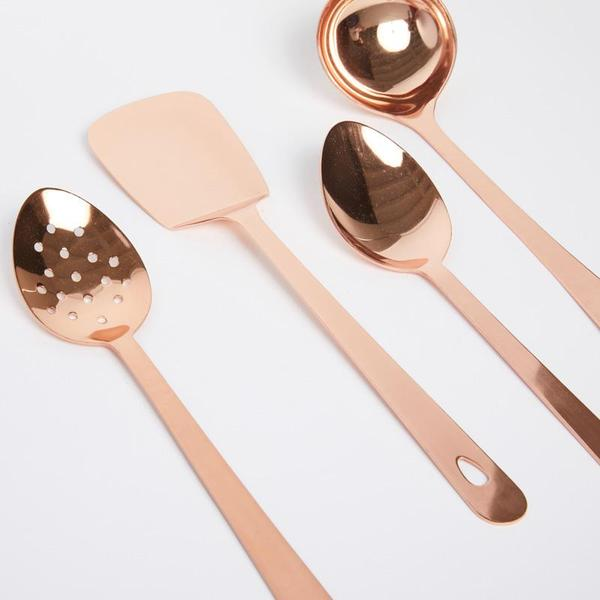 COPPER UTENSIL SERVING SET