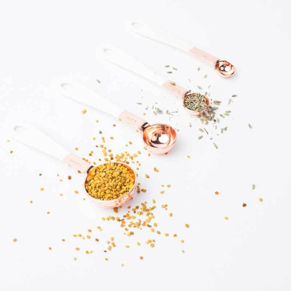 A Dash Of That | Copper + White Measuring Spoons