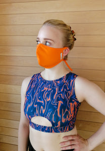 Fabric Face Mask for Women - Orange