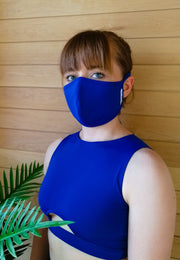 Fabric Face Mask for Women- Blue