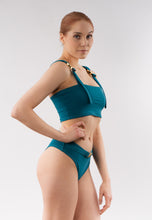 Load image into Gallery viewer, Skye bandeau bikini top - turquoise