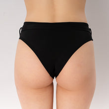 Load image into Gallery viewer, Skye bikini bottom with belt - black