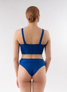 Skye Bikini Bottom with Belt for Women - Blue