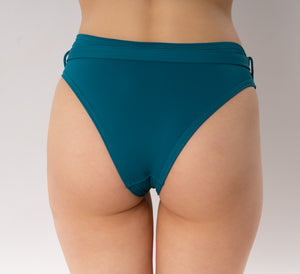 Skye bikini bottom with belt - turquoise