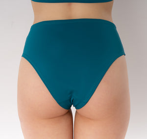 Solar high waisted bikini bottom - blue-turquoise