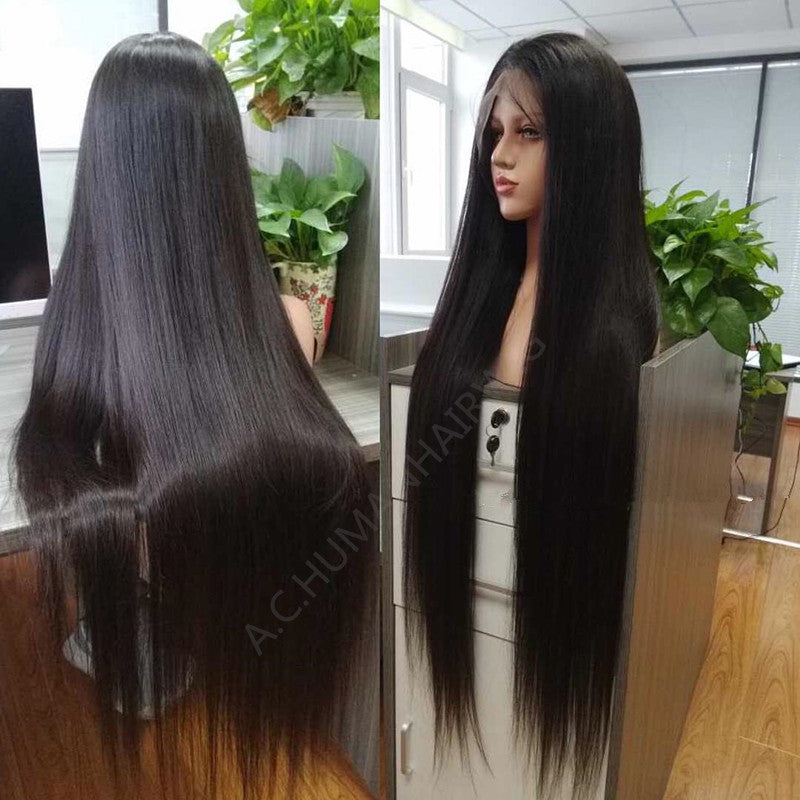 a798b20fc Straight Lace Front Human Hair Wigs Free Part Brazilian Remy Hair Wig 8