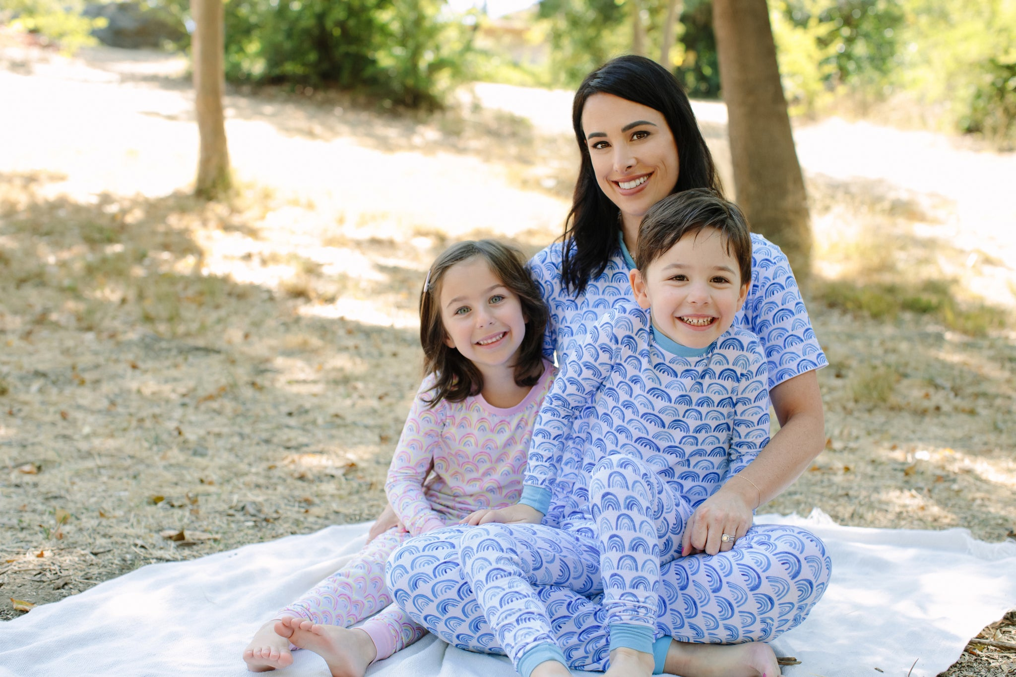 Little Sleepies founder with her kids