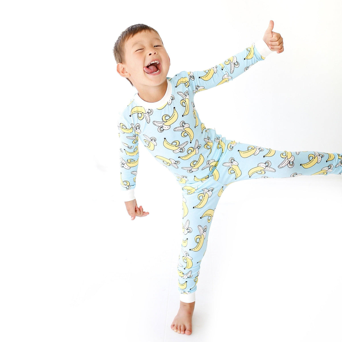 21a15663e Bananas Two-Piece Toddler/Kids Bamboo Pajama Set – Little Sleepies