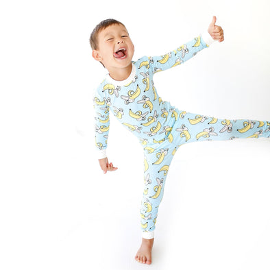 Bananas Two-Piece Baby & Toddler Bamboo Pajama Set