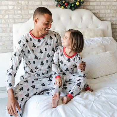 Christmas Trees Two-Piece Men's Pajama Set