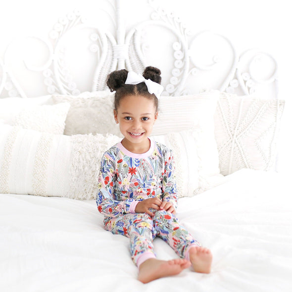 Floral Two-Piece Baby & Toddler Bamboo Pajama Set