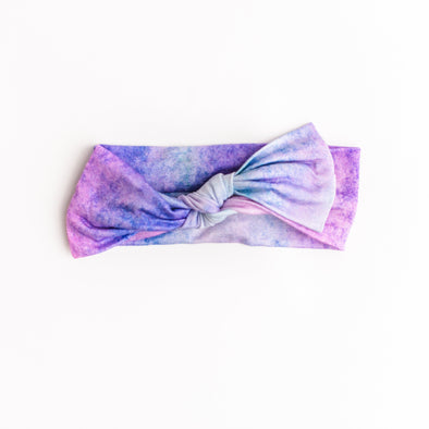 Headband - Purple Watercolor Bow Headband
