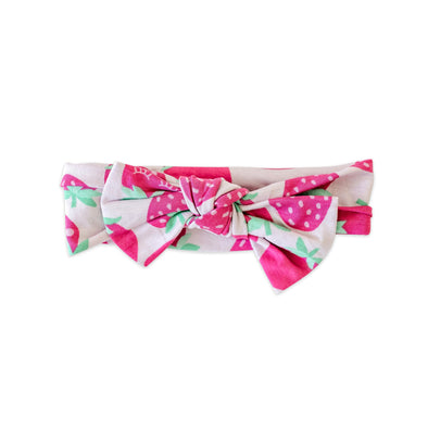 Headband - Strawberries Bow Headband