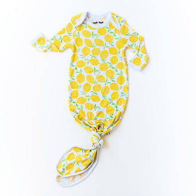 Lemons Bamboo Infant Knotted Gown
