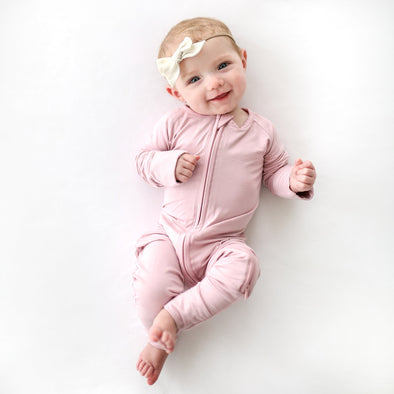 Mauve Baby & Toddler Bamboo Zip Romper/Sleeper