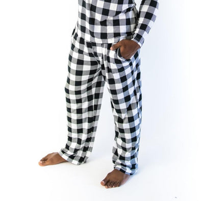 Men's - Buffalo Plaid Men's Bamboo Viscose Pajama Pants