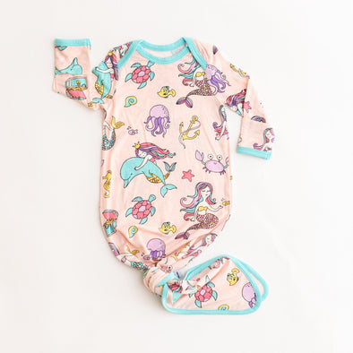 Mermaids Bamboo Infant Knotted Gown
