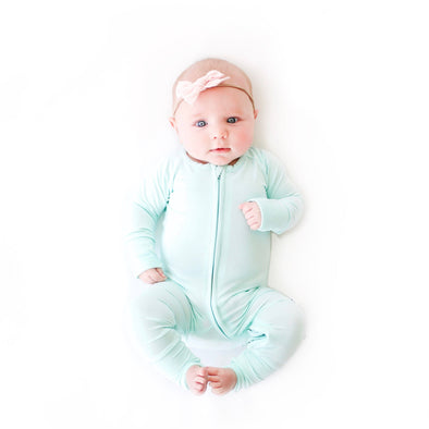 Mint Baby & Toddler Bamboo Zip Romper/Sleeper