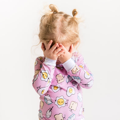 Pink Breakfast Buddies Two-Piece Toddler/Kids Bamboo Pajama Set