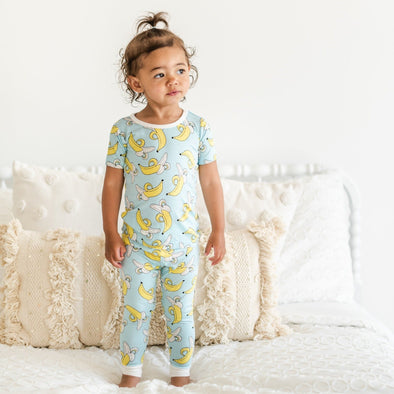PJs - Bananas Two-Piece Short Sleeve Bamboo Viscose Pajama Set