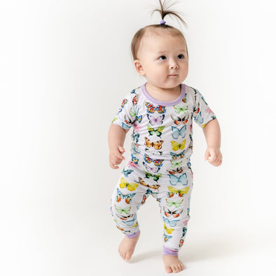PJs - Butterflies Two-Piece Bamboo Viscose Pajama Set