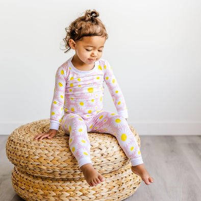 PJs - Daisies Two-Piece Bamboo Viscose Pajama Set