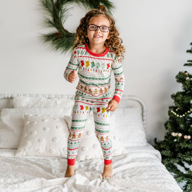 PJs - Fair Isle Two-Piece Bamboo Viscose Pajama Set