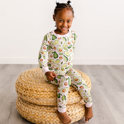 PJs - Pink Avocados Two-Piece Bamboo Viscose Pajama Set