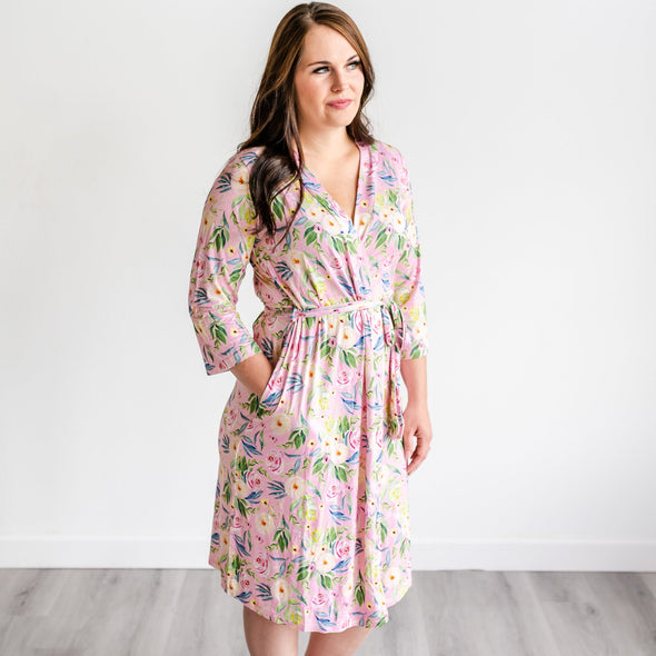 Robes - Alexandra Floral Women's Bamboo Viscose Robe