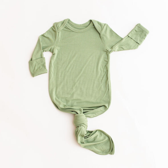 Sage Green Bamboo Infant Knotted Gown