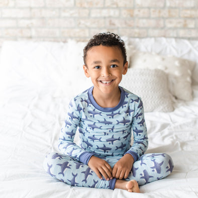 Sharks Two-Piece Bamboo Pajama Set