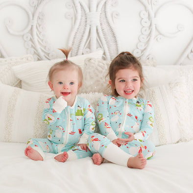Snowman Baby & Toddler Bamboo Zip Romper/Sleeper