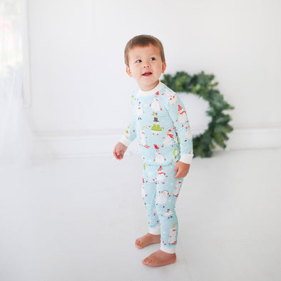 Snowman Two-Piece Baby & Toddler Bamboo Pajama Set