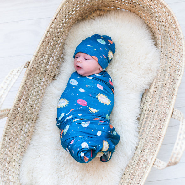 Space Bamboo Swaddle + Hat Set