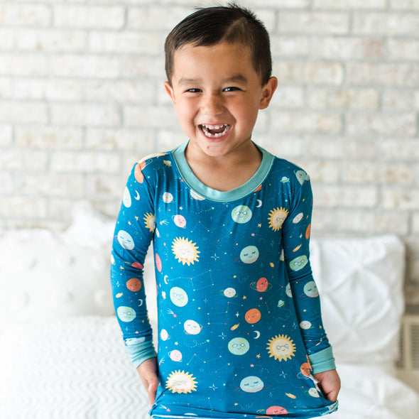 Space Two-Piece Bamboo Pajama Set