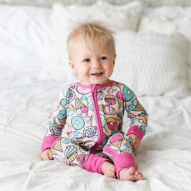 Sweet Treats Baby & Toddler Bamboo Zip Romper/Sleeper