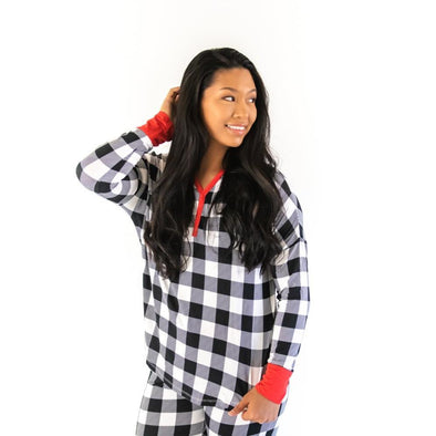 Women's PJs - Buffalo Plaid Women's Bamboo Viscose Pajama Top