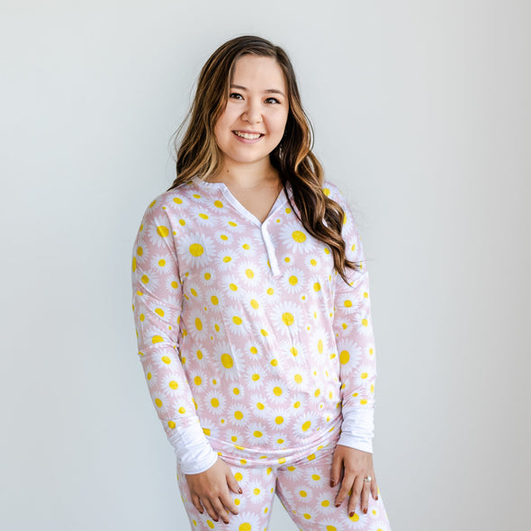 Women's PJs - Daisies Women's Bamboo Viscose Pajama Top