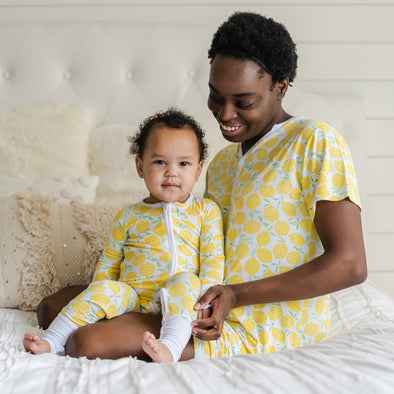 Women's PJs - Lemons Women's Shorts Bamboo Viscose Pajama Set
