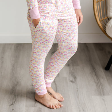 Women's PJs - Pastel Rainbows Women's Bamboo Viscose Pajama Pants