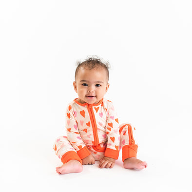 Zippy - Hearts Baby & Toddler Bamboo Viscose Zippy